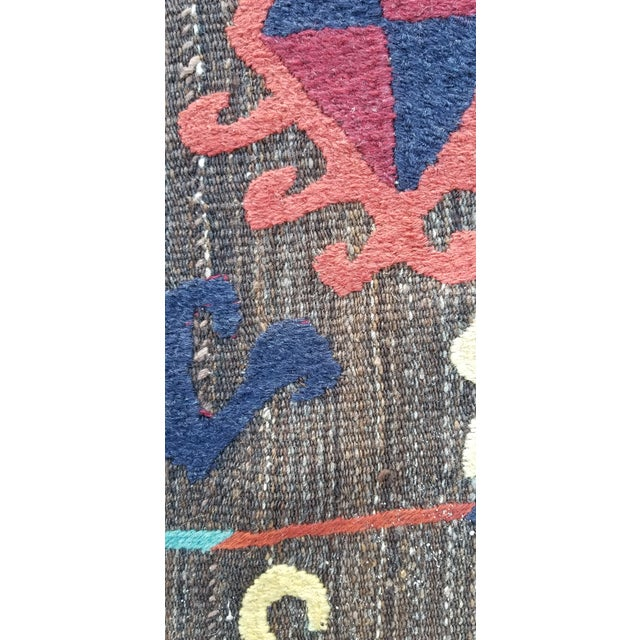 """Hand Woven Hand Embroidered Wool Rug-5'6'x6'8"""" For Sale - Image 4 of 7"""