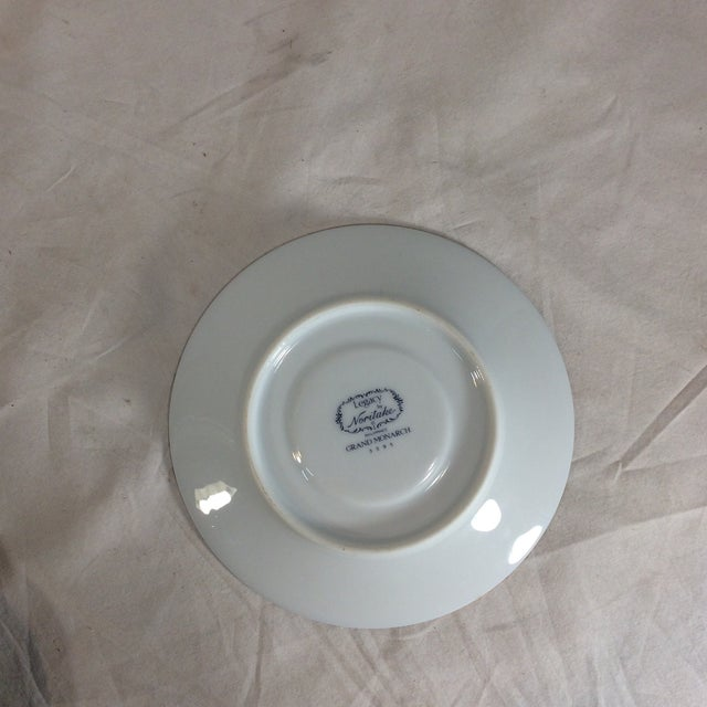 1980s Legacy by Noritake Grand Monarch China Saucers - Set of 4 For Sale - Image 5 of 10