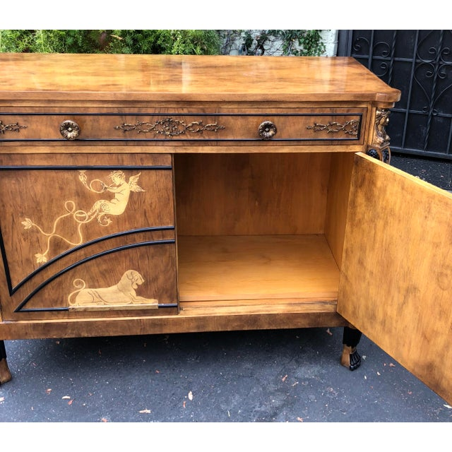 Vintage Neoclassical Satinwood Inlaid Commode by Traditional Imports