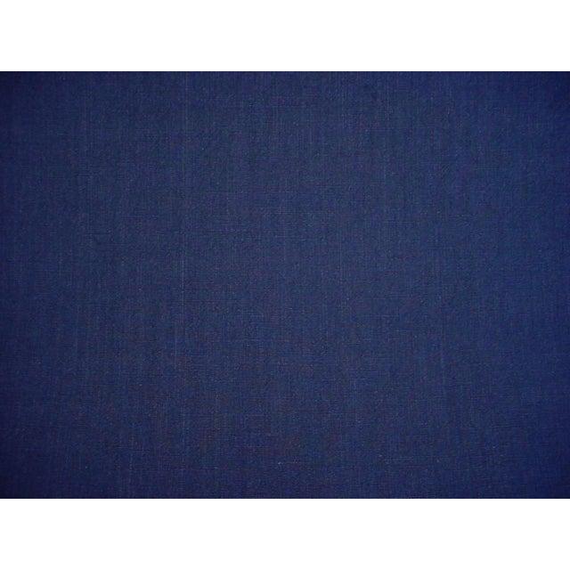 Ralph Lauren Ralph Lauren Papyrus Terry Indigo Blue Cotton Drapery Upholstery Fabric- 9-3/4 Yards For Sale - Image 4 of 5