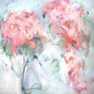 """""""Fullness of Joy"""" Contemporary Expressionist Floral Still Life Acrylic Painting For Sale"""