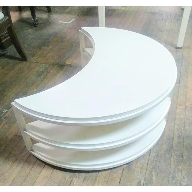 Henredon Henredon Furniture White Dove Crescent Occasional Table For Sale - Image 4 of 7