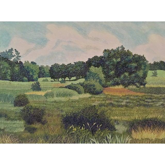 Cottage West Baker Park Color Woodcut by Mortensen For Sale - Image 3 of 7