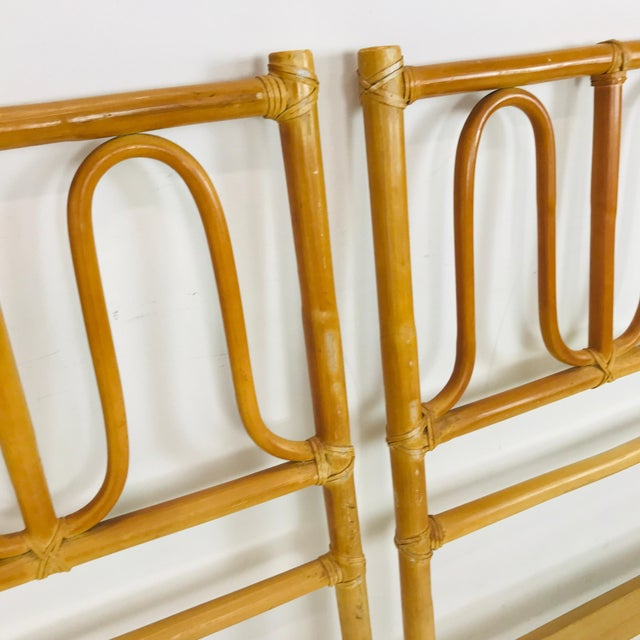 McGuire McGuire Twin Headboards Pair For Sale - Image 4 of 8