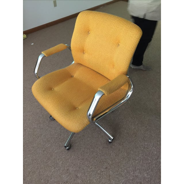 Vintage Steel Case Office Chair - Image 3 of 3