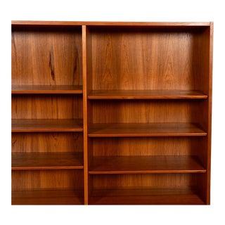 Danish Modern Teak Adjustable Bookcase / Display Cabinet Top For Sale