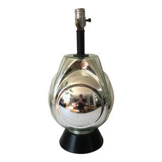 Mid-Century Mercury Glass Lamp For Sale