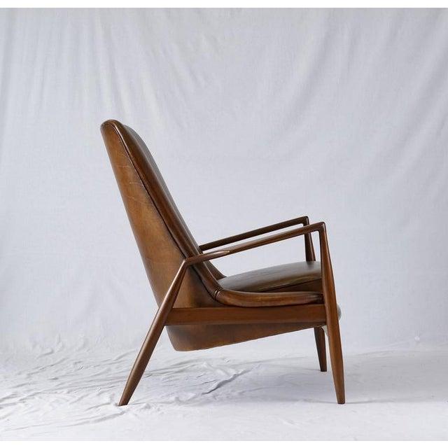 "Mid-Century Modern Ib Kofod-Larsen High Back ""Seal"" Chair For Sale - Image 3 of 10"