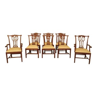 Theodore Alexander Chippendale Style Mahogany Dining Chairs - Set of 8 For Sale