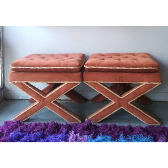 Billy Baldwin Attributed Ottomans - A Pair - Image 4 of 5