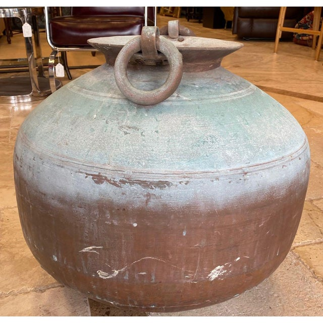 Antique Indian Copper Water Pot For Sale - Image 4 of 13