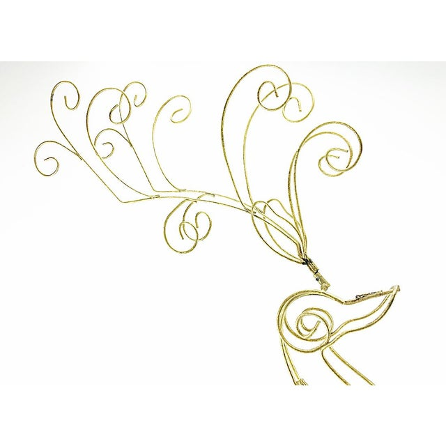 Vintage Tall Wire Christmas Reindeer - Image 4 of 5