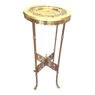 19th Century Charles Parker Aesthetic Movement Brass Table For Sale