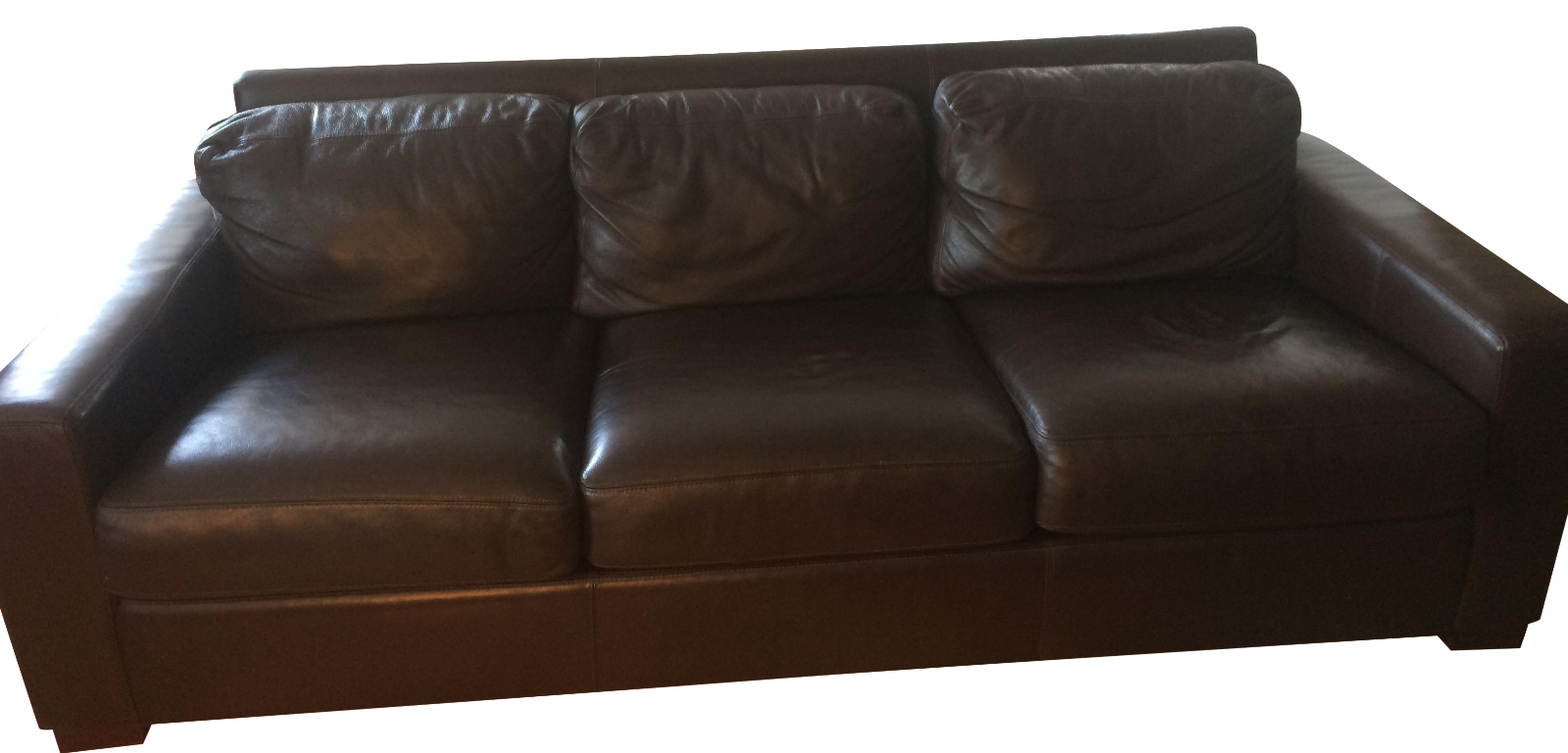 Design Within Reach 84 Portola Leather Sofa Chairish