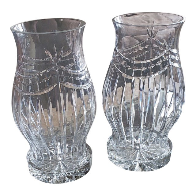 1960s Traditional Crystal Candleholders - a Pair For Sale