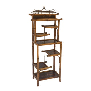 English Bamboo Étagère or Shelves from the Aesthetic Movement Era For Sale