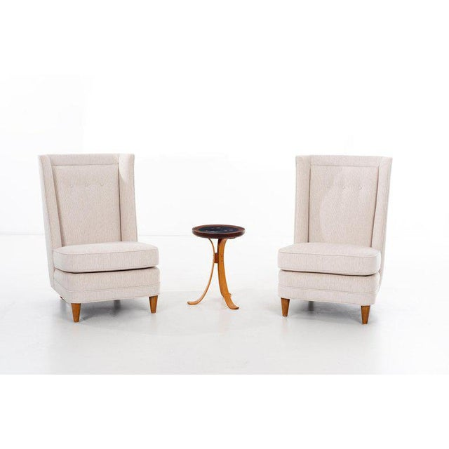 Paul Laszlo High-Back Lounge Chairs For Sale - Image 11 of 12