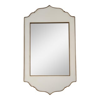 White & Gold Moroccan Inspired Mirror
