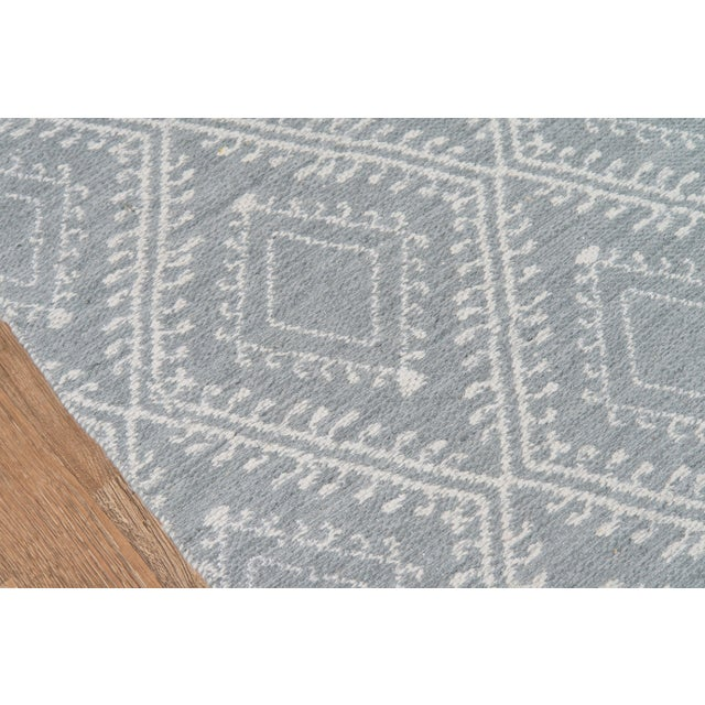"""Contemporary Erin Gates by Momeni Easton Pleasant Grey Indoor/Outdoor Hand Woven Area Rug - 5' X 7'6"""" For Sale - Image 3 of 7"""