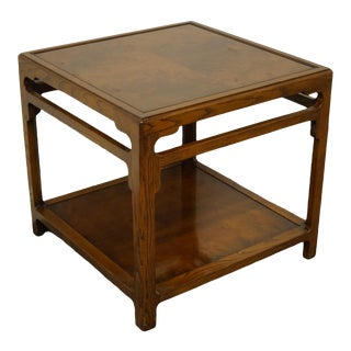 "Maitland Smith Burled Walnut Square End Table - 25"" For Sale"