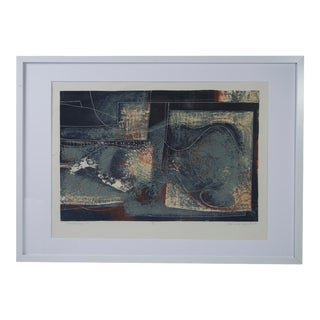 """1958 Signed Limited Edition """"Landscape #4"""" Lithograph by Donald Roberts For Sale"""