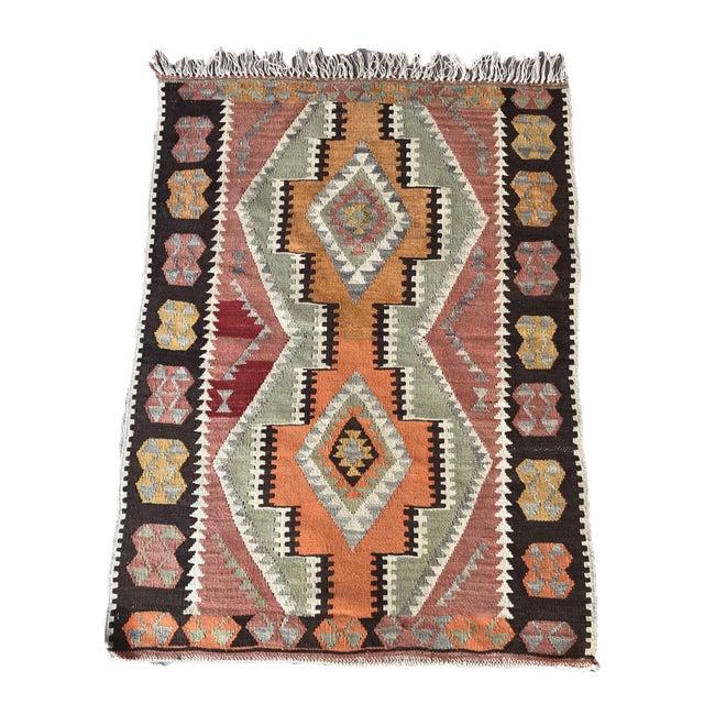 1930s Vintage Turkish Anatolian Kilim Rug For Sale - Image 12 of 12