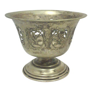 Antique English Silverplate Footed Serving Bowl or Candle Holder