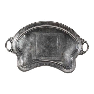 1860's Engraved Silver Plated Butlers Tray