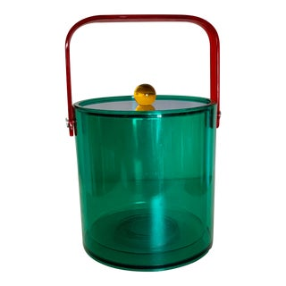 Mid-Century Modern Vivid Color Acrylic Ice Bucket For Sale