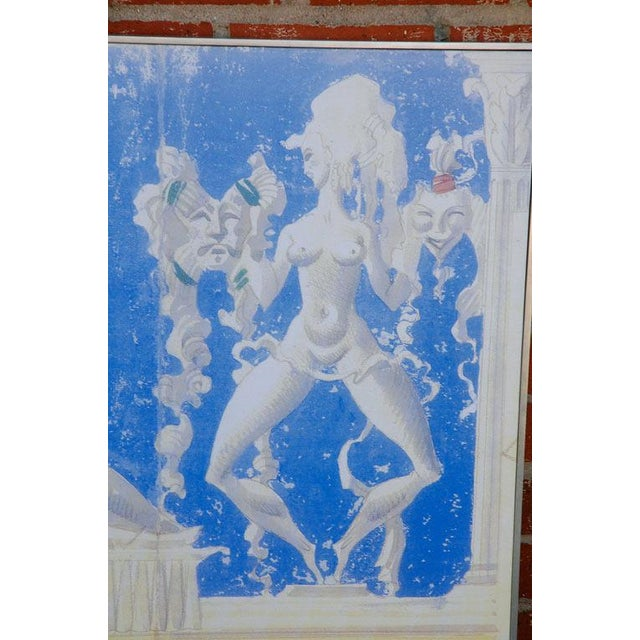 2010s Large William Haines Canvases Drawing For Sale - Image 5 of 10