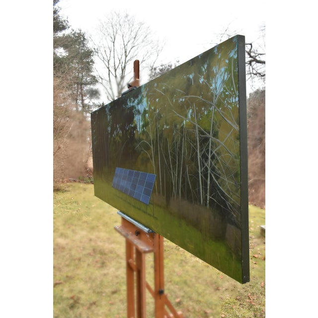 """Back Yard Solar Panels"" Painting by Stephen Remick For Sale - Image 11 of 13"