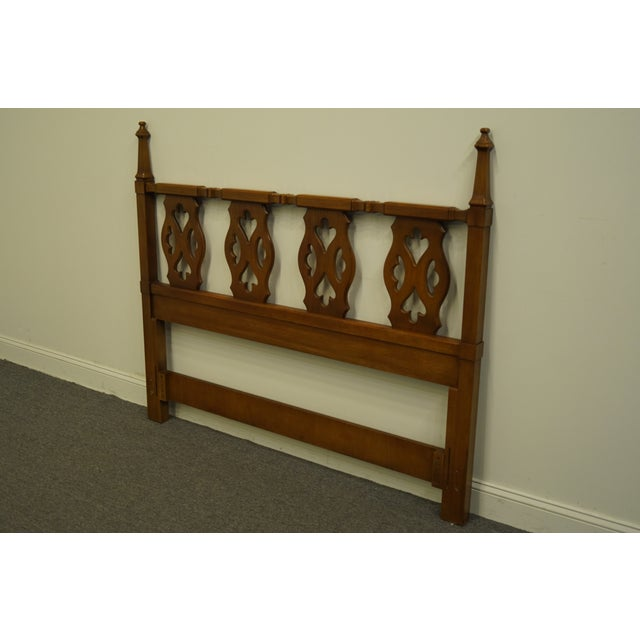 Traditional 20th Century Spanish Drexel Furniture Esparanto Collection Queen Size Headboard For Sale - Image 3 of 8