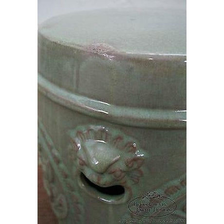 Vintage Chinese Celadon Garden Seat For Sale - Image 9 of 13