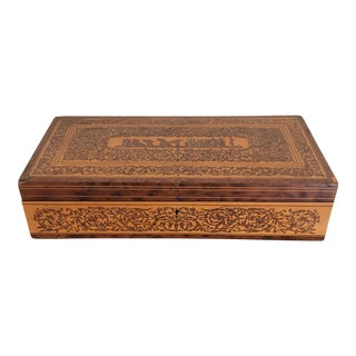 19th Century Antique Marquetry Table Box For Sale