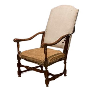 French Walnut Reclining Chair For Sale