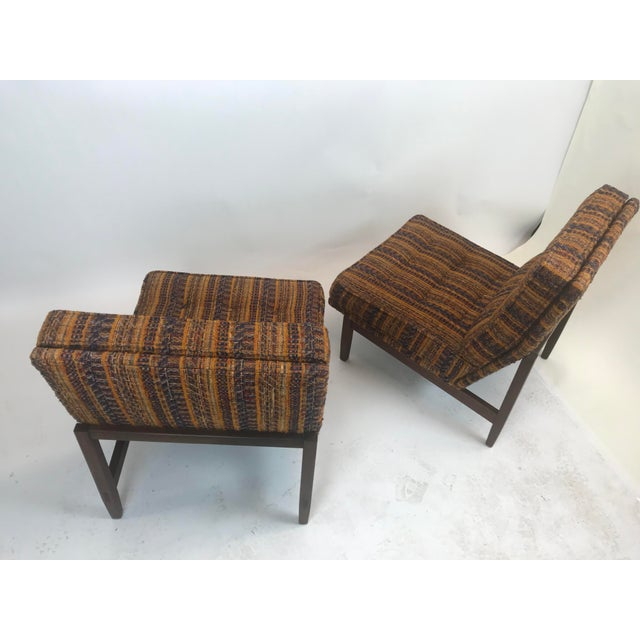 Mid-Century Modern Early Florence Knoll Lounge Slipper Chairs - a Pair For Sale - Image 3 of 12