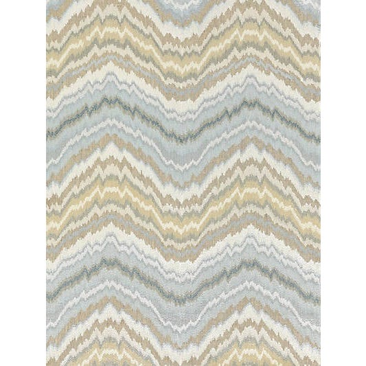 Scalamandre Bergamo Embroidery Fabric, Mineral For Sale