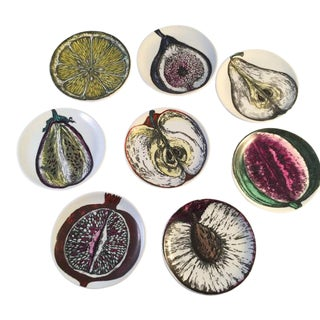 Piero Fornasetti Boxed Set of Sezione Di Frutta 'Cut Fruit' Coasters, 1960s