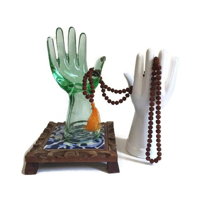 Vintage Glass Hand Statues Display Decor Jewelry Stands - A Pair - Image 7 of 11
