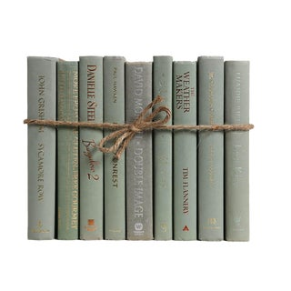 Modern Spanish Moss Colorpak : Decorative Books in Shades of Muted Light Green For Sale