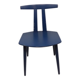 Vintage Mid Century Mobler Cobalt Blue Chair For Sale
