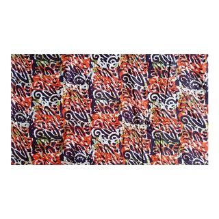 Orange Multi African Print Fabric - 6 Yards