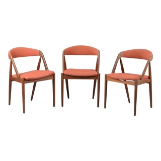Three A-Frame Model 31 Chairs by Kai Kristiansen for Schou-Andersens Møbelfabrik For Sale