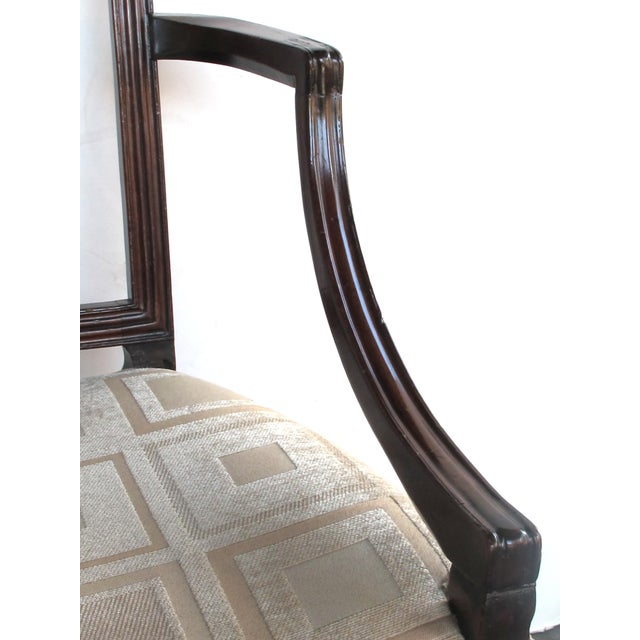 A Handsome English George III Sheraton Mahogany Arm Chair For Sale In San Francisco - Image 6 of 7