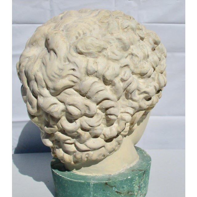 1980s Neoclassical Head of Greek Youth in Plaster Sculpture For Sale - Image 4 of 8