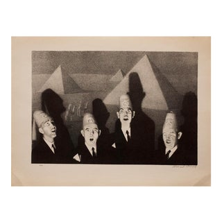 "1930s Lithograph ""Shriners' Quartet"" by Grant Wood"