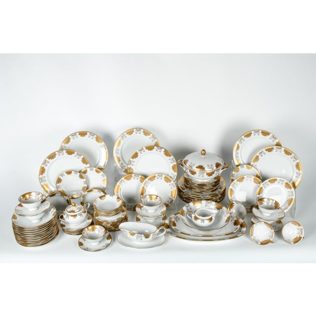 Antique west Germany dinnerware service for ten people. The set include 67 pieces all together. Serving pieces include...