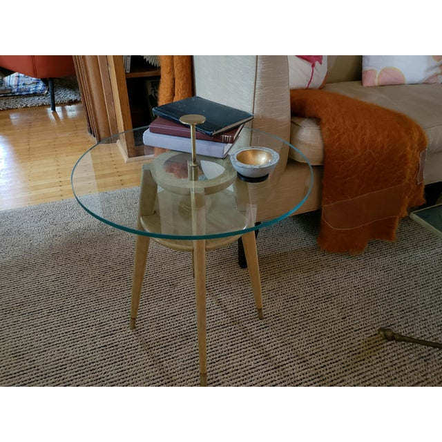 """Ash 1960s Mid Century Modern Brass Cocktail """"Cigarette"""" Table For Sale - Image 7 of 12"""