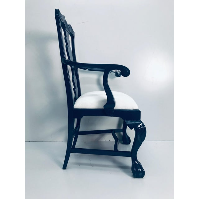 Traditional 1960s Vintage Traditional Oak Chippendale Chairs - Set of 4 For Sale - Image 3 of 9