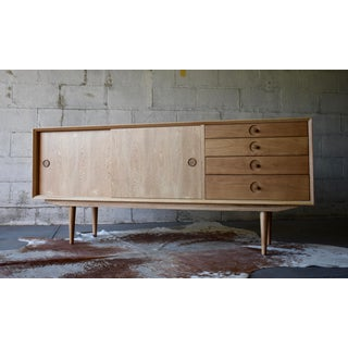 Mid Century Modern Styled Oak Credenza Media Stand Preview
